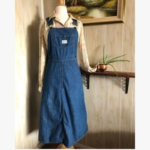 1970's Madewell Denim Jumper Dress